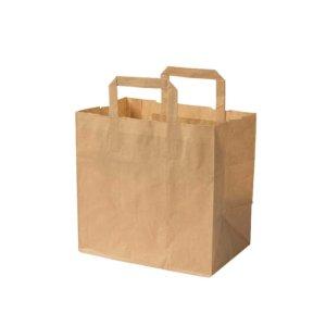 Papierová taška L | hnedá | 26x17x25cm | 250 ks