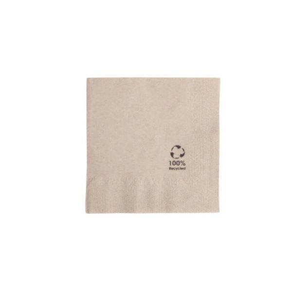 Papierové servítky | nebielené | 20x20cm | 2-vrstvové | 100 ks
