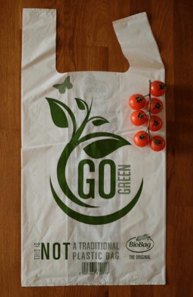 Kompostovateľná pevná taška na nákup | 20 l | 41x54 cm | 30 ks